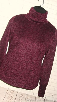 15283a90eb9 Кофты и свитера ручной работы. Заказать Сегодня за 990 руб!БОРДО меланж  Женская водолазка из теплого трикотажа. ОДЕЖДА ручной работы