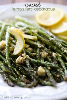 Roasted Lemon Feta Asparagus from chef-in-training.com …This recipe is so flavorful, easy and delicious!