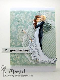 Cool wedding card  Stamping Bella  Mary Johnson  adorable!