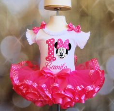 Adorable Minnie Mouse Birthday Outfit 2 pc by LittleKeikiBouTiki, $69.95