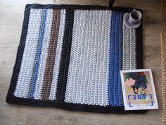 szydełkowy dywanik z bawełnianego sznura