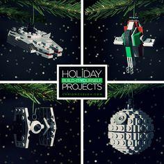 Build-it-Yourself 2013: Millennium Falcon, Death Star, TIE Fighter, and Bounty's Hunter Ornaments