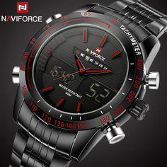 Perfect #mensgifts Wooden Design #Watches Big Sale http://timecreatives.com/naviforce-mens-sports-watch-steel-quartz-clock-digita/ Trendy Fashion Design Watches - TimeCreatives #woodwatches #fashion