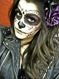 Lovely Day of the Dead Makeup for Halloween
