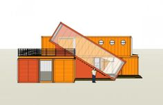 7 Bright red shipping containers repurposed as modern offices ...