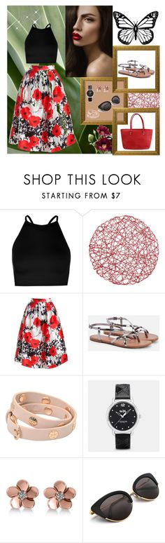 """Butterfly"" by minchy-269 ❤ liked on Polyvore featuring Boohoo, Sans Souci, JustFab, Tory Burch, Coach and Allurez"