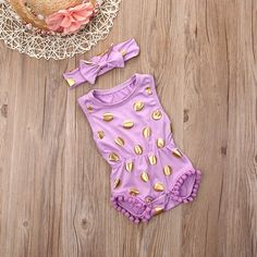 2016 Fashon for Gilding Newborn kids tassel Romper Baby Girls Clothes Polka Dot Romper Jumpsuit Sunsuit Outfits Set-in Rompers from Mother & Kids on Aliexpress.com | Alibaba Group