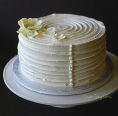 I think I want to do just a small cake like this for the cutting, but cupcakes for the guests
