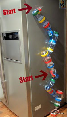 Rotating Balls - Game of plastic bottles