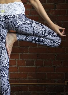 ALLURE lacewaist yoga leggings by MuladharaYoga on Etsy - these are incredible and come in both petite and tall sizes. The best leggings!! More fun and unique then Lululemon Wunderunders!