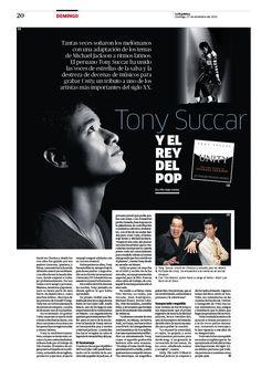 Tony Succar y el rey del pop. Diseño para la revista Domingo. Más páginas en mi blog www.columnasymodulos.blogspot.com #layout #diseñoeditorial #magazine