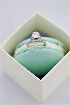 Wedding ring in Parisian Macaroon from Laduree. I think this is my dream way for a proposal.