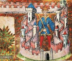 Yooniq images - Beginning of Peter III the Great's reign, son of James I the Conqueror, King of Aragon and Sicily. Miniature from Chronicles of Spain, 1344, manuscript, Spain 14th Century.