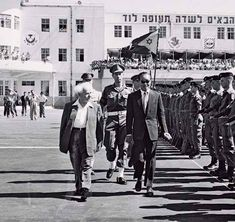 David Ben Gurion, General Ne Win, at Lod Airport, Tel Aviv. Israel Palestine, Jewish History, Yangon, Mandalay, Tel Aviv, Burmese, Colonial, Evolution, Birth