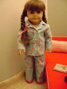 18 Inch Doll Apparel Winter Fun Flannel Pajamas by gofancynancy, $24.99