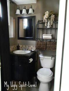 beautiful bathroom idea for 1/2 bathroom