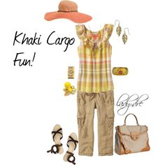 Khaki Cargo Fun!, created by lady-dre on Polyvore