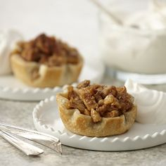 Individual mini pies are fun way to serve dessert for a crowd, and so easy to make ahead.