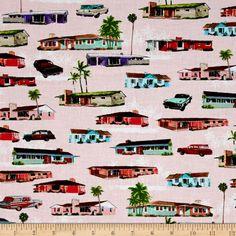 Kanvas The Times of Your Life Cul de sac Pink Fabric