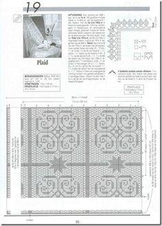 Crochet: Toalhas de mesa quadradas