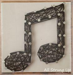 Music Note Mini Craft DIY – String Art All Strung Up