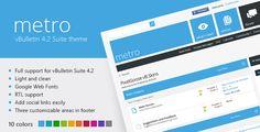 Producto:  Metro – A Theme for vBulletin 4.2 Suite Gratis    Precio: 25$    Precio ComunidadSeo: GRATIS    Descargalo desde AQUÍ: http://comunidad-seo.com/