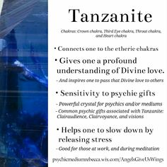 Tanzanite crystal meaning