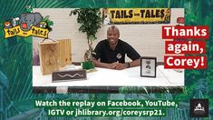#SUMMERREADING PROGRAM HIGHLIGHT: Thanks again to Corey Wright of the Mississippi Museum of Natural Science for spending time with us on Facebook Live! The replay is on our Facebook videos page, YouTube, IGTV and jhlibrary.org/coreysrp21. #SRP #SRP2021 #TailsAndTales Summer Reading Program, Video Page, Facebook Video, Replay, Science And Nature, Mississippi, Thankful, Museum, Baseball Cards