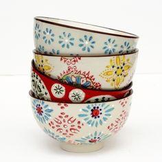 Handpainted bohemian bowls