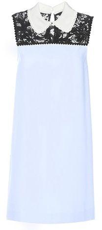Miu Miu Lace-panelled Mini Dress