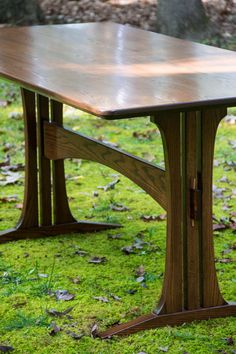 Trestle Dining Table by ReceptiveDesign on Etsy