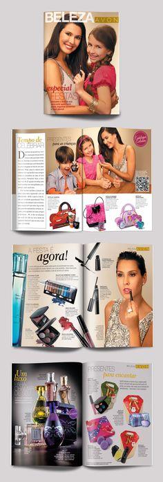 Encarte de 8 páginas produzido para a marca Avon, veiculado nas edições de Claudia e Nova, 2012.