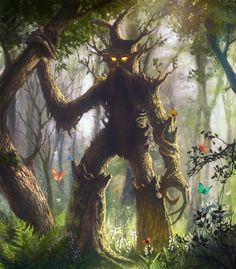 Ent : Criatura  que son árboles, árboles que se mueven, aunque lentamente. Parece que fueron inspirados en los árboles parlantes de muchos folclores del mundo.