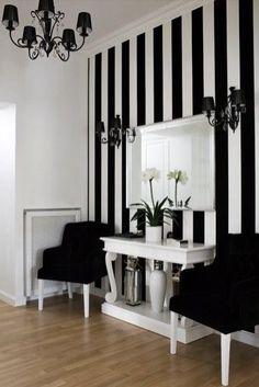 Déco rayures en noir et blanc /Martine Haddouche/