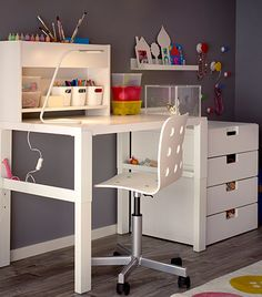 almacenaje escritorio infantil