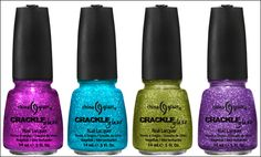 China Glaze crackle glitters