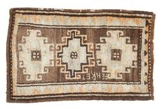 Loving the tribal feel of this 2x3 Vintage Oushak Rug Mat - Old New House