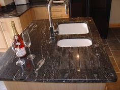 Newstar supply NGJ158 Cosmic black granite granite countertop China factory Wholesale China  KitchenGraniteCountertopPrice