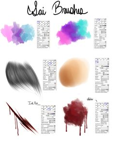 My Brushes- For Paint tool SAI by Akira-Raikou.deviantart.com on @DeviantArt