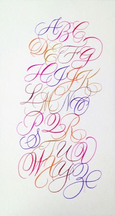 A set of A to Z, done in Pentel Sign Pen brush markers. Calligraphy Fonts Alphabet, Hand Lettering Alphabet, Alphabet Art, Typography Letters, Letter Art, Penmanship, Creative Lettering, Cool Lettering, Graffiti Lettering
