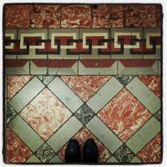 Fromwhereistand carrelage vintage hall immeuble 31 rue Alsace - Lorraine Toulouse