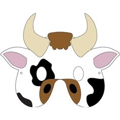 Comprehensive image for chick fil a cow mask printable