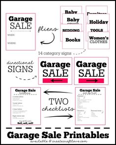 FREE Garage Sale Printables with TWO bonus checklists!