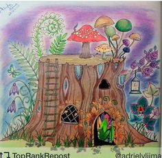44 Best Enchanted Forest Tree Stump Images Coloring Pages Adult
