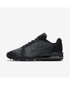 Nike Air Max Sequent 2 852461-001 Nike Air Max Trainers, Mens Trainers, Mens Nike Air, Nike Men, Running Shoes For Men, Sports Shoes, Black Dark, All Black Sneakers, Outlets