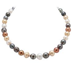 Pearl Lustre 14K Yellow Gold Multi Colour South Sea Pearl Necklace