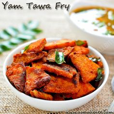 Yam Tawa Fry Recipe / Senaikizhangu Roast is simple as always with minimal ingredients. It pairs well with curd rice, all types of Sambar and Dal rasam.