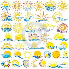 Illustration about Isolated line art sunshine logo set. Illustration of icons, hill, mountain - 33131962 Sun Illustration, Stock Illustrations, Sunshine Logo, Sun Tattoos, Celtic Tattoos, Sleeve Tattoos, Hand Crafts For Kids, Sun Tattoo Designs, Sun Stock
