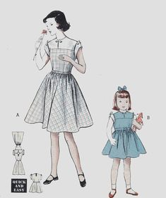 0a30774e944b8 Vintage 1950s Girls Yoked Bodice Frock Dress Fore Gore Skirt Sewing Pattern  Butterick 5782 50s Childrens Sewing Pattern Size 6 UNCUT