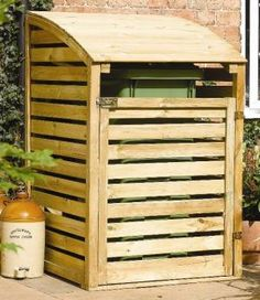 Neat garbage can storage... I would try to build instead of buy